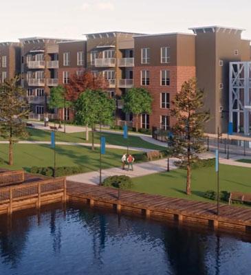 Rendering of walkways and dock